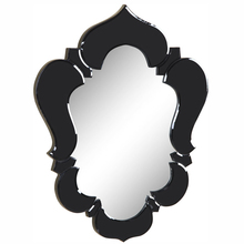 Elegant MR-2007BK - Venetian 20.7 in. Transitional Mirror in Black & Clear