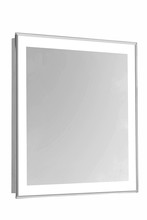 "Elegant MRE-6103 - 4 Sides LED Edge Electric Mirror Rectangle W24""H30"" Dimmable 5000K"