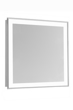 "Elegant MRE-6108 - 4 Sides LED Edge Electric Mirror Rectangle W28""H28"" Dimmable 5000K"