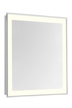 "Elegant MRE-6113 - 4 Sides LED Edge Electric Mirror Rectangle W24""H30"" Dimmable 3000K"