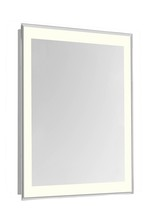 "Elegant MRE-6114 - 4 Sides LED Edge Electric Mirror Rectangle W24""H40"" Dimmable 3000K"