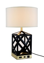 Elegant TL3009 - Brio Collection 1-Light Black Finish Table Lamp