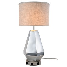 Elegant TL3012 - Brio Collection 1-Light Polished Nickel Finish Table Lamp