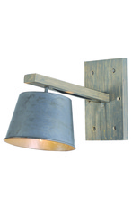 Elegant WL1231 - Industrial  Collection Wall Sconce D:7.5in H:14.5in E:13.75in Lt:1 Antique Finish