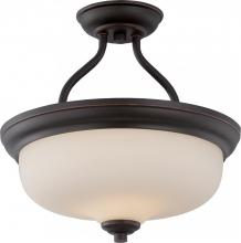 Nuvo 62-394 - Kirk 2 Light LED Semi Flush