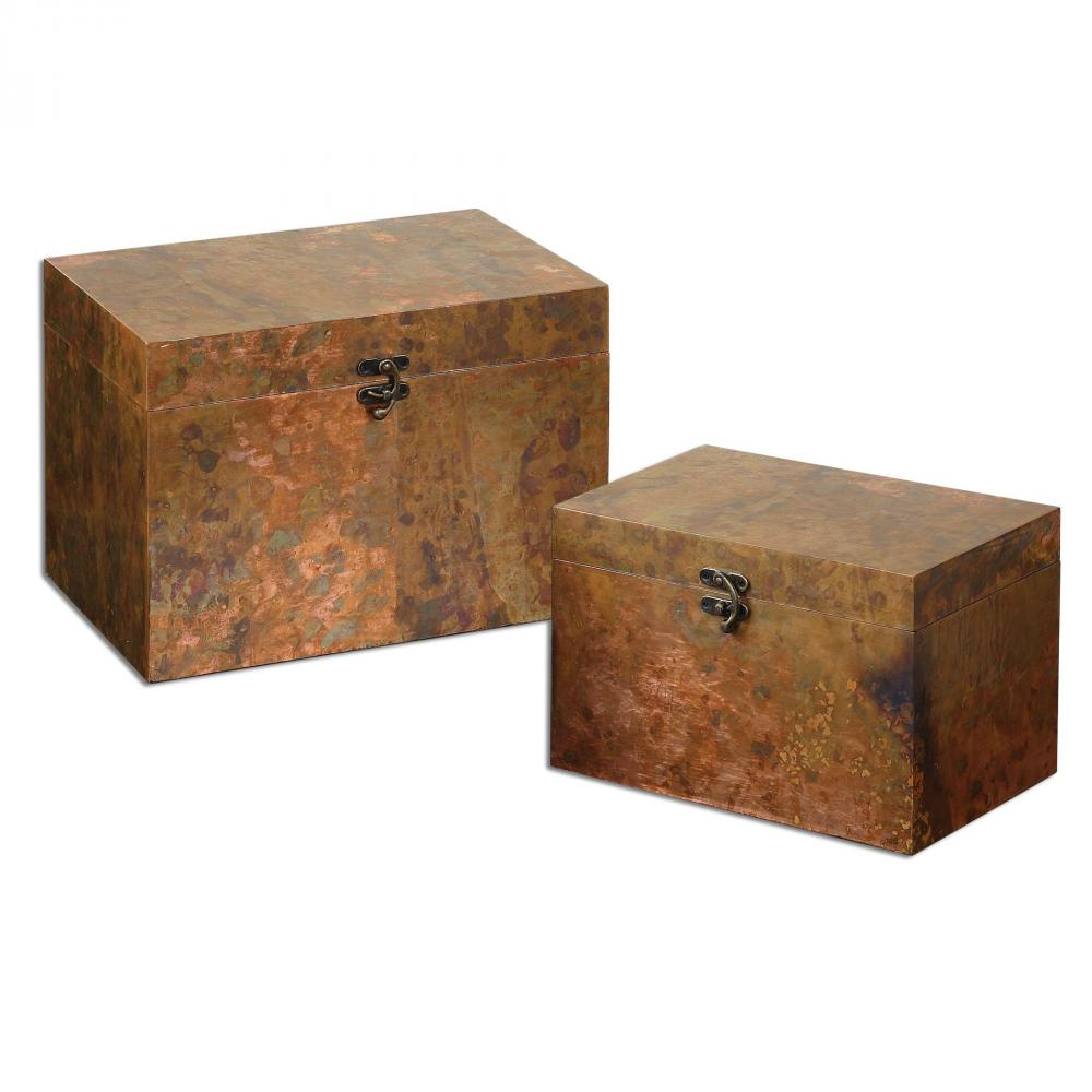Sunbelt Lighting in HATTIESBURG, Mississippi, United States,  19827, Uttermost Ambrosia Copper Boxes S/2, Ambrosia
