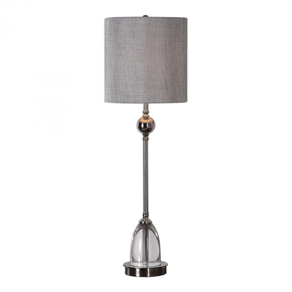 Sunbelt Lighting in HATTIESBURG, Mississippi, United States,  29368-1, Uttermost Gallo Nickel Buffet Lamp, Gallo
