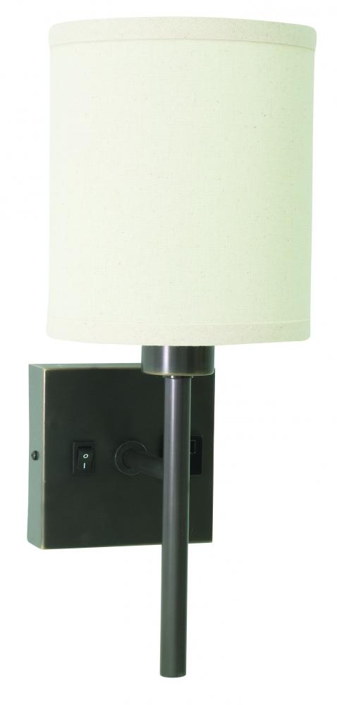 Wall Lamp With Convenience Outlet